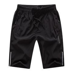 2018,短裤,夏季,新款,男士,休闲,宽松,运动,户外,五分裤,训练裤,黑色