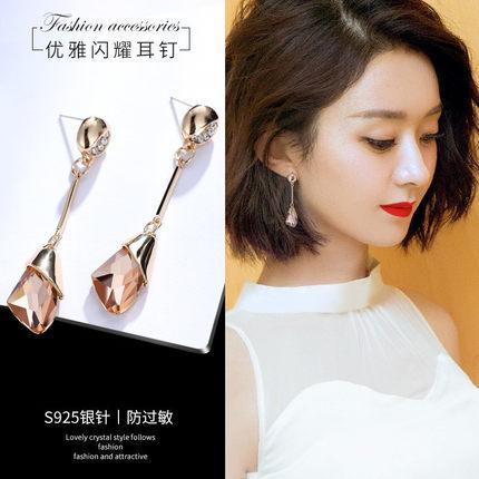 [波迪拉旗舰店耳环]高级感耳环女长款气质网红韩国个性耳钉月销量3591件仅售17.99元