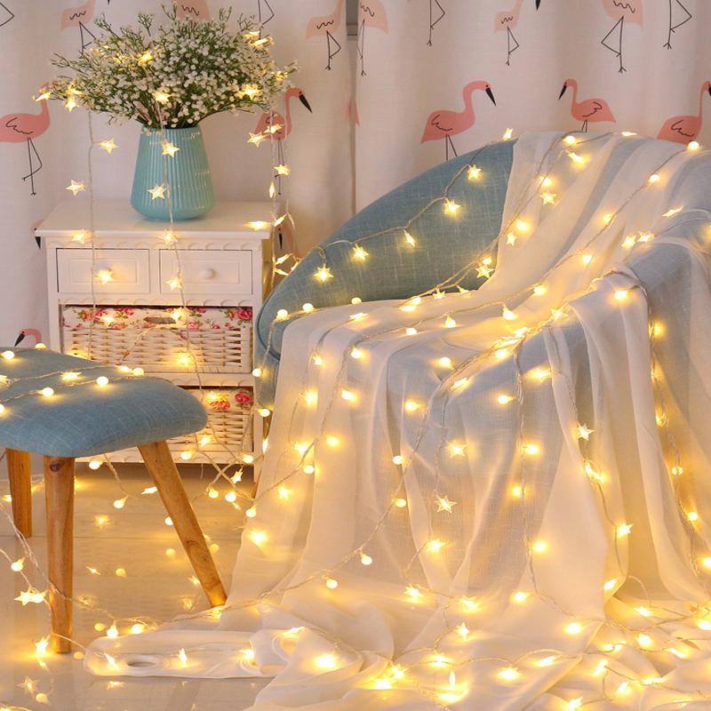 LED星星小彩灯闪灯串灯满天星房间布置装饰网红灯卧室浪漫少女心