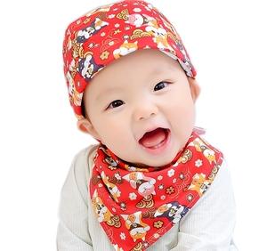 婴儿帽子3-6-12个月男女宝宝帽子春秋海盗帽韩版胎帽纯棉头巾薄款