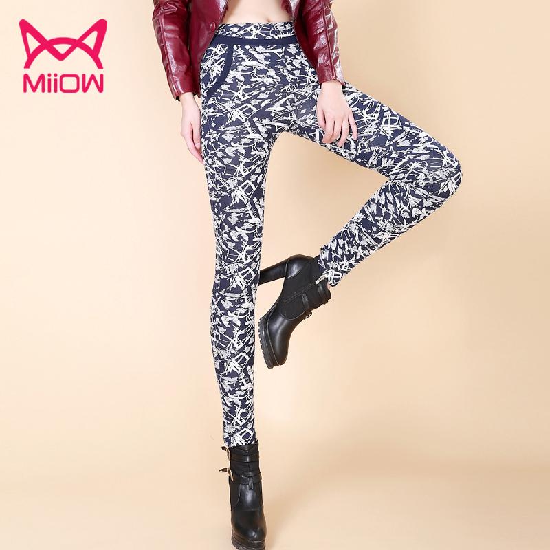(尺码偏小拍大一码)猫人保暖裤女外穿加绒加厚打底裤冬黑铅笔裤