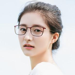 韩国超轻tr90塑钢钨钛近视眼镜大框复古文艺超细眼镜框全框潮男女