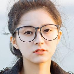 近视眼镜框超轻TR90复古大脸眼睛架韩版配镜圆脸大圆框男女款全框