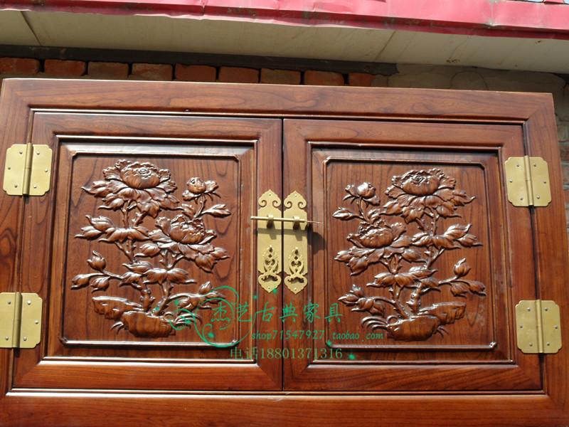 Шкаф Китайская классическая мебель династий мин и Цин мебель, мебель из цельного дерева, антикварная мебель и Старый вяз мебель Старый вяз верхней древесины кабинет