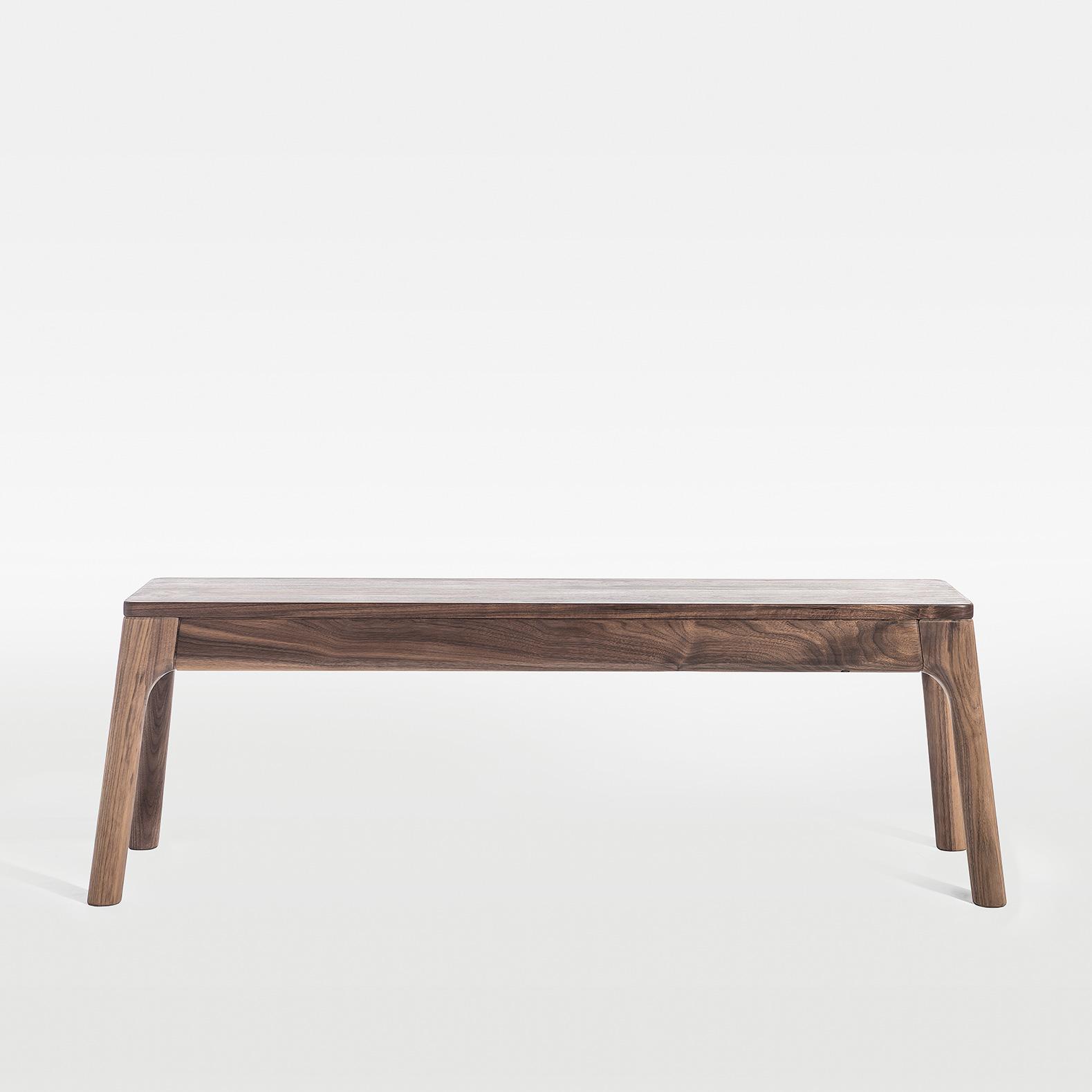 及木 北欧简约 榉木白橡黑胡桃 全实木换鞋长条凳餐厅长凳子YZ040