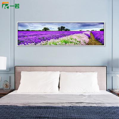 一若卧室床头挂画 客厅沙发背景墙装饰画 现代简约有框壁画薰衣草