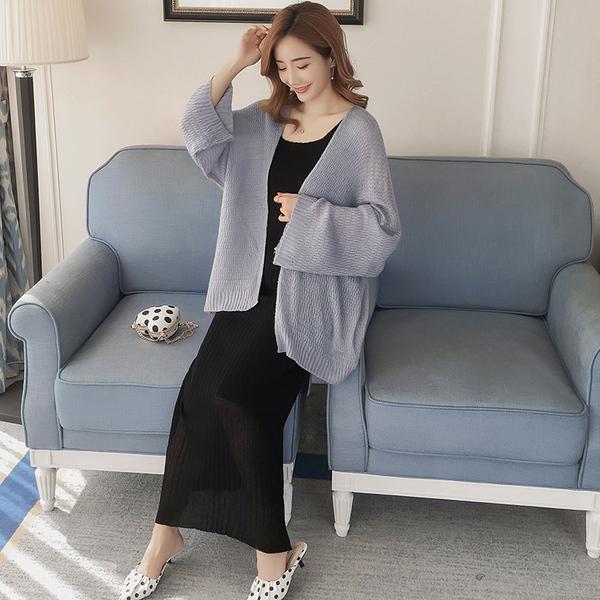 8852#【实拍现货】孕妇毛衣针织衫 吊带+外套套装
