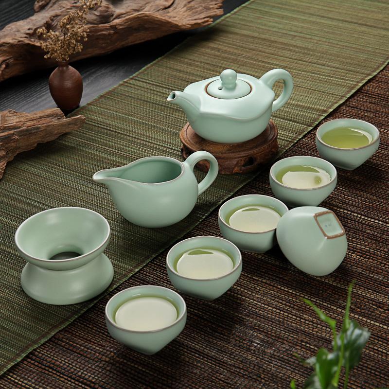 Набор для чайной церемонии Керамические языке чайный набор памяти Sony палку USB Open ru ru чайный набор чашки трещины глазури льда чайник