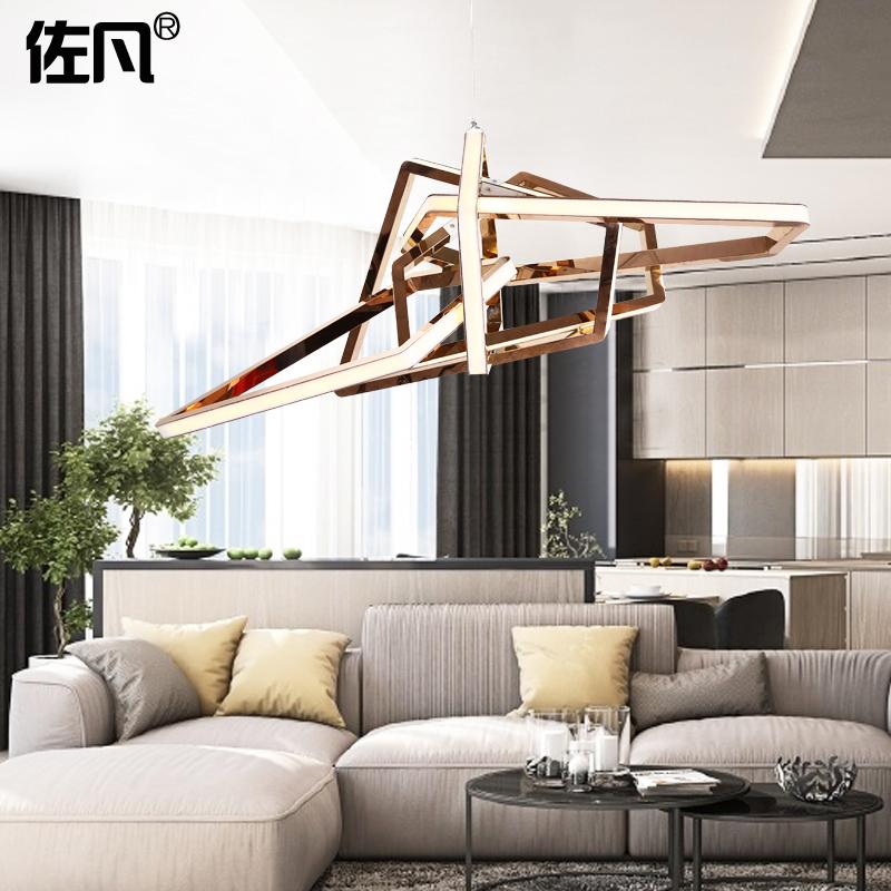 佐凡 北欧创意艺术别墅客厅餐厅展厅设计师简约个性不规则吊灯
