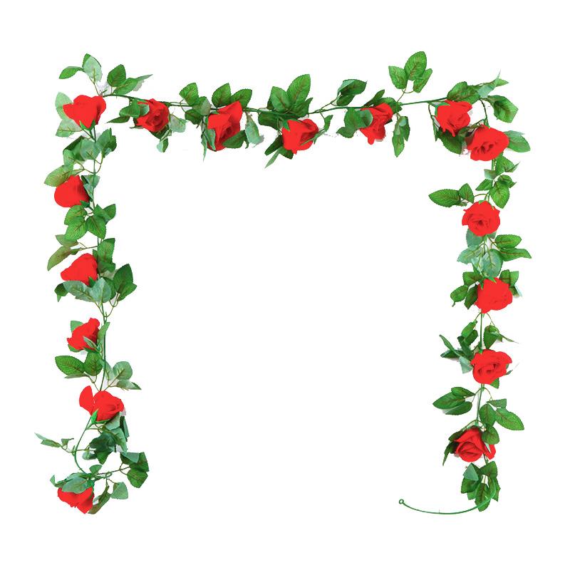 仿真玫瑰花藤条假花植物藤蔓花藤