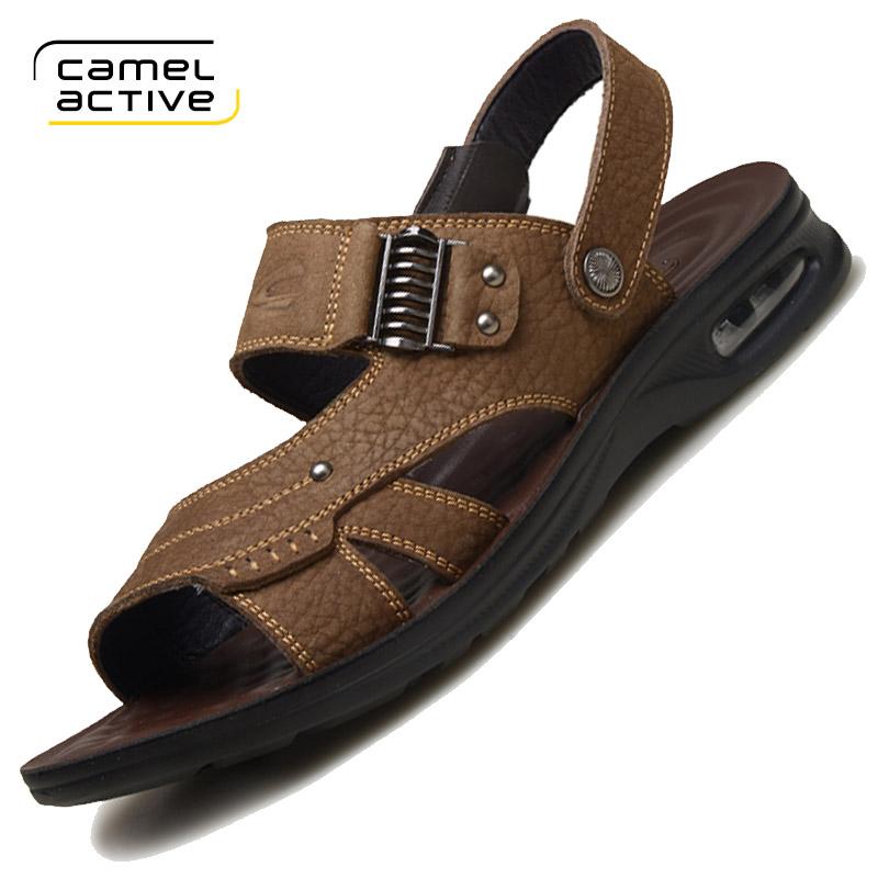 德国骆驼动感 凉鞋男士夏季皮凉鞋男真皮沙滩鞋防滑休闲运动鞋男
