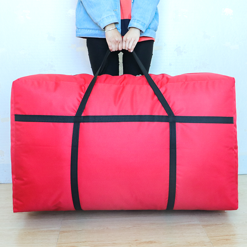 Large storage woven bag moving quilt packing bag special large capacity Oxford canvas luggage bag thickening quilt bag