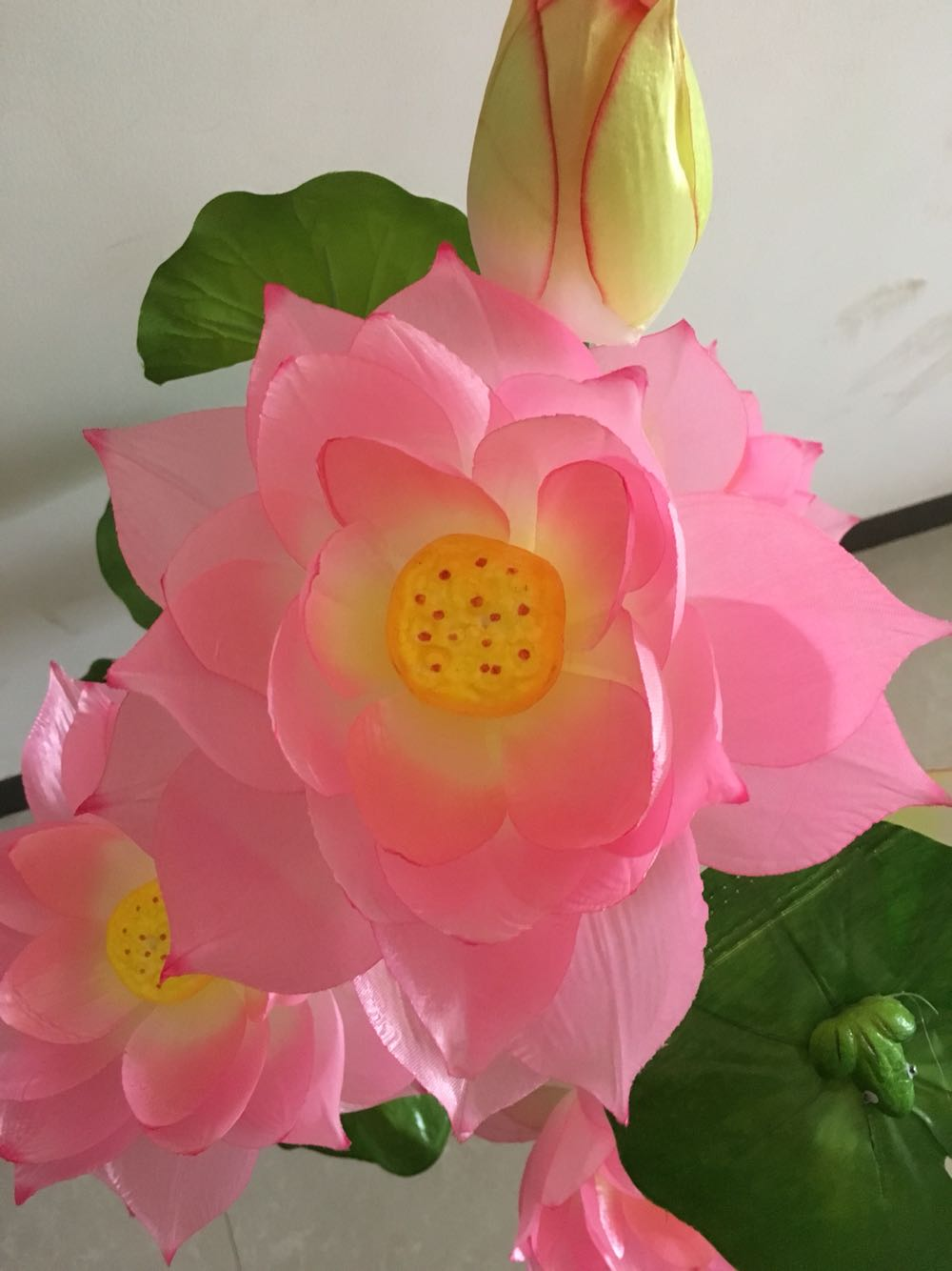 New Product Simulation Lotus Flower For Buddha With Water Lily False