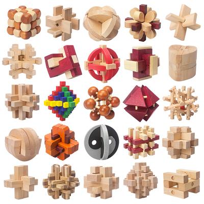 孔明锁25件套装礼盒益智中国古典解锁拆装智力榫卯高智商玩具学生