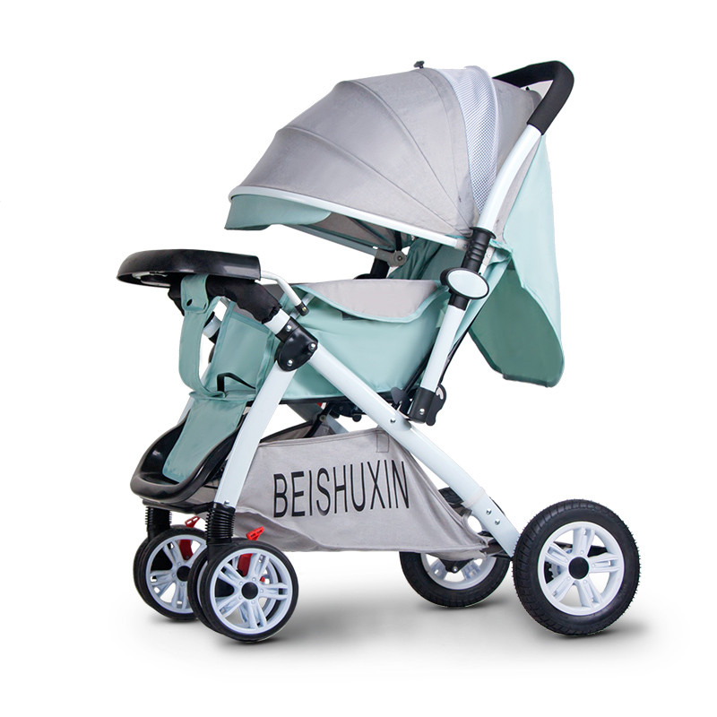 Baby stroller can sit and lay light folding child newborn child baby child two-way four-wheeled bb stroller
