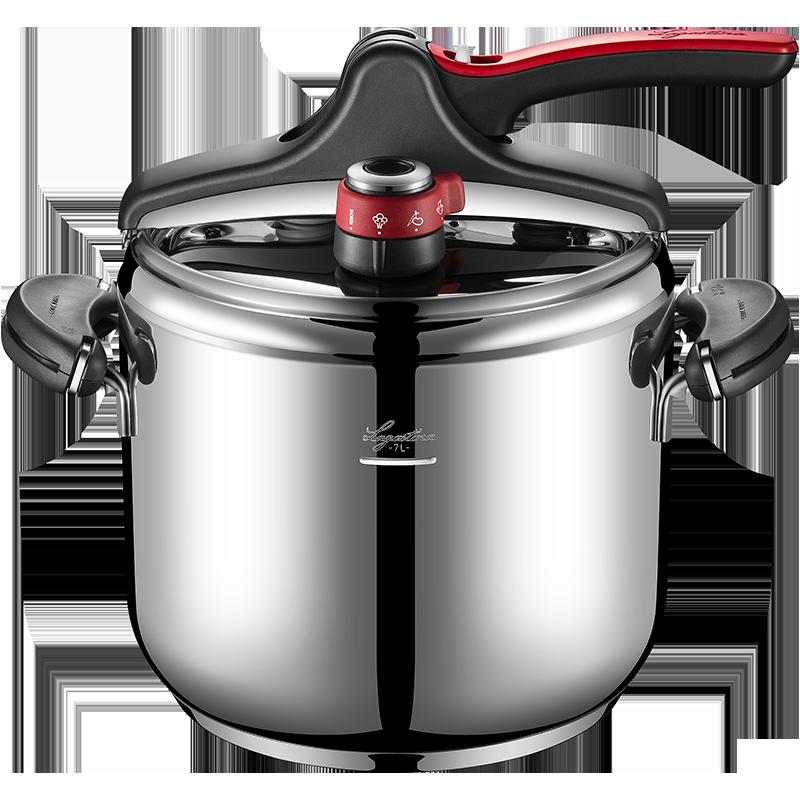 拉歌蒂尼意大利原装进口7L罗萨不锈钢高压锅煎炒炖多用锅家用