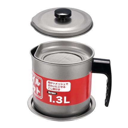 嘉士厨油壶家用防虫出口日本不锈钢过滤网油瓶厨房防漏大号储油罐