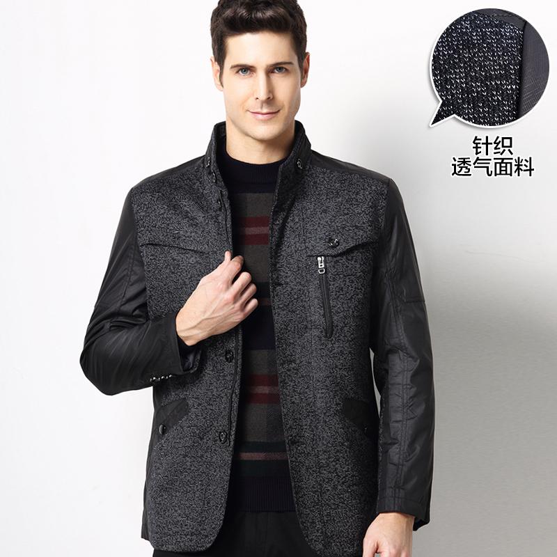 木笛新款中年男装外套男士春秋立领夹克男秋季商务薄款修身jacket