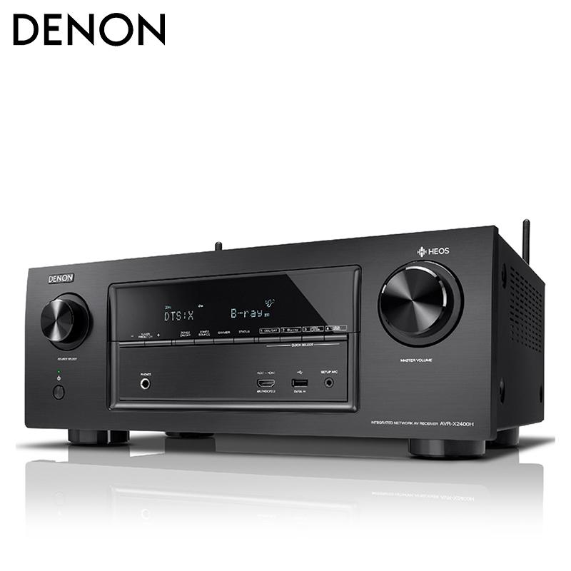 Denon-天龙 AVR-X2400H 功放机7.2声道家用影院功放机大功率专业Hifi功放机进口5.1影院套装音响JBL 190