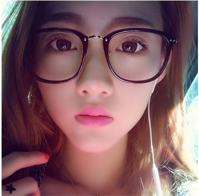 韩版眼镜框女潮复古圆脸男平光镜可配防辐射近视眼镜架显瘦大镜框
