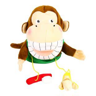 猴子宝宝毛绒玩具公仔习惯养成亲子玩具过家家玩偶波波爱刷牙