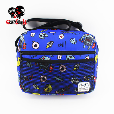 COOLMAX trend indicator 2017 new cartoon print shoulder bag men bag student bag Messenger bag