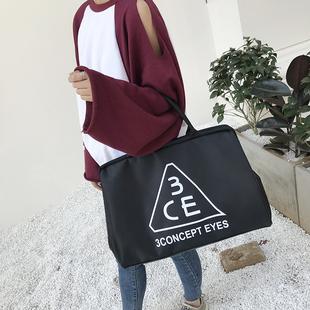 韩版手提女旅行袋防水旅行包短途行李包男大容量出差旅游包健身包
