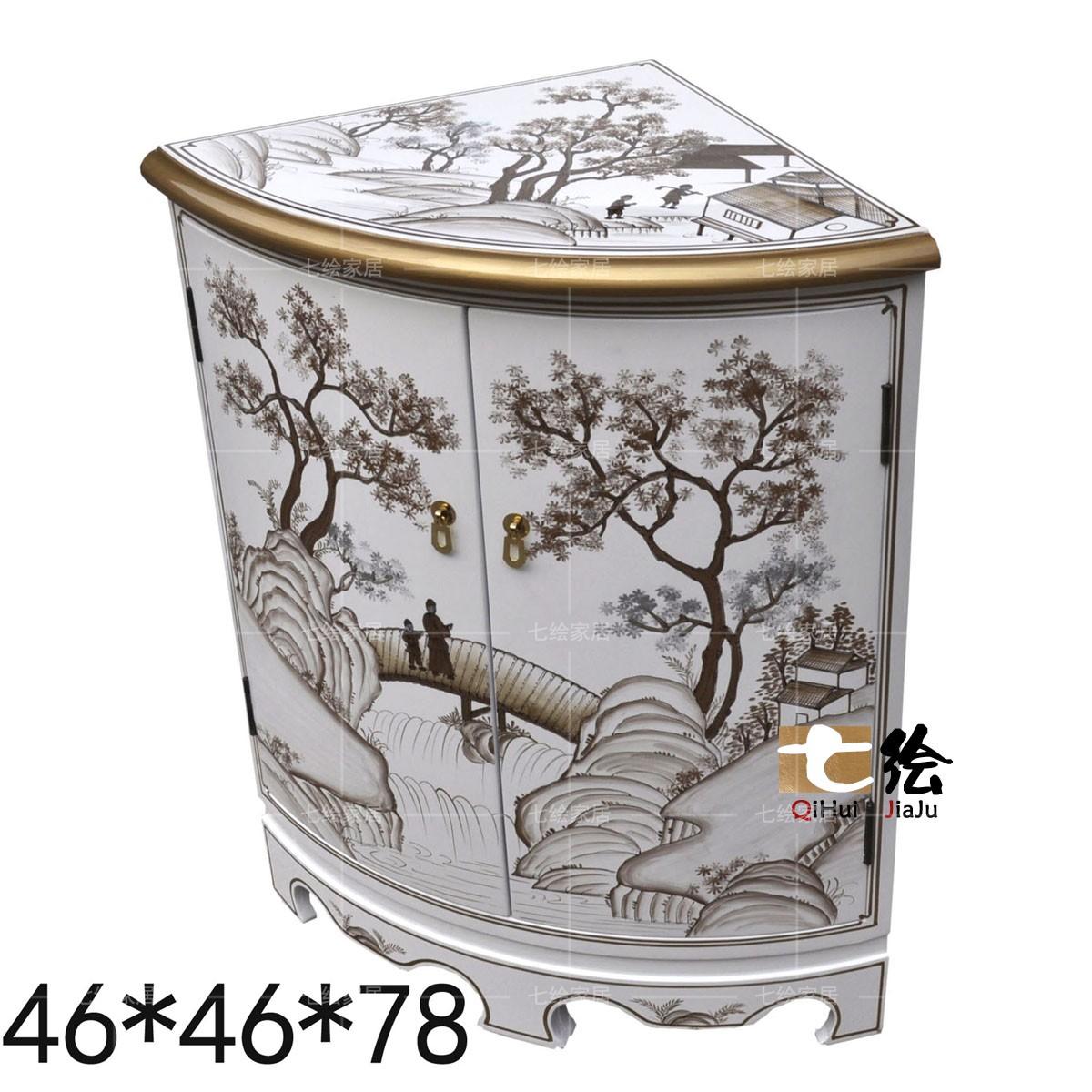 七绘新古典装饰家具转角柜q104