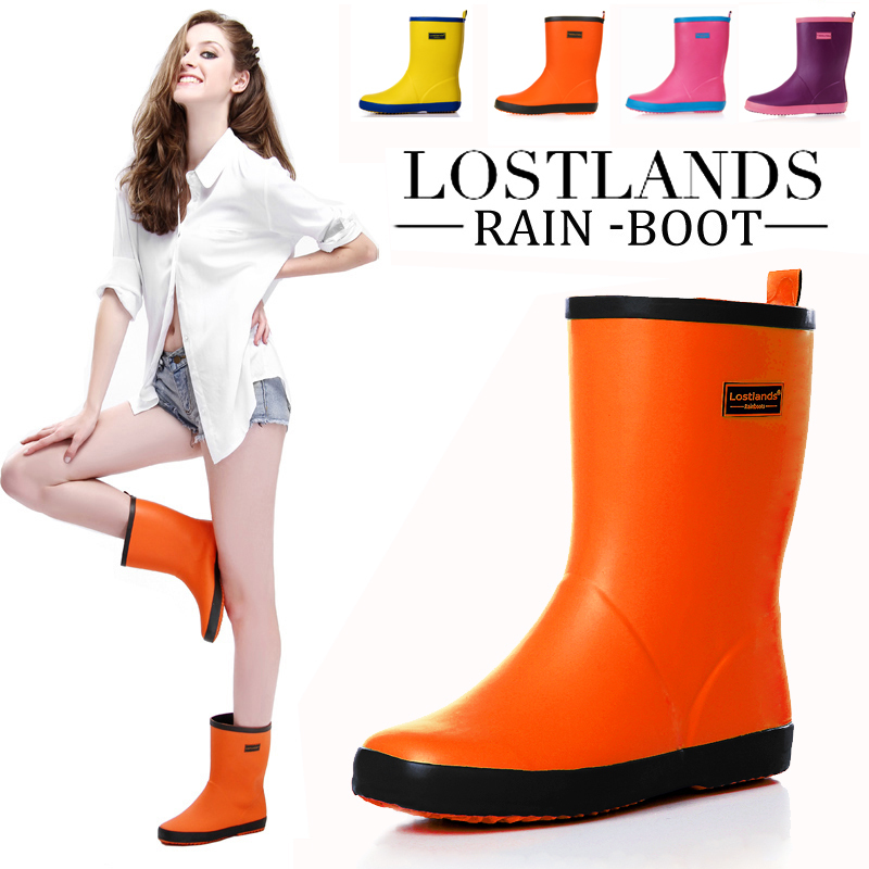 LOSTLANDS 17 tube in the spring and summer women&39s rain boots