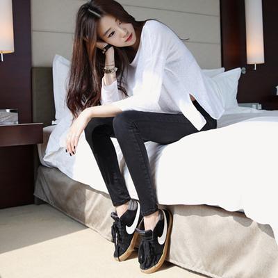 牛仔裤女小脚2017春季新款韩版女式修身显瘦弹力薄款铅笔裤长裤