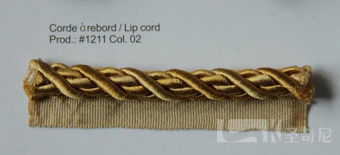 圣奇尼带织边丝质装饰绳1211-02