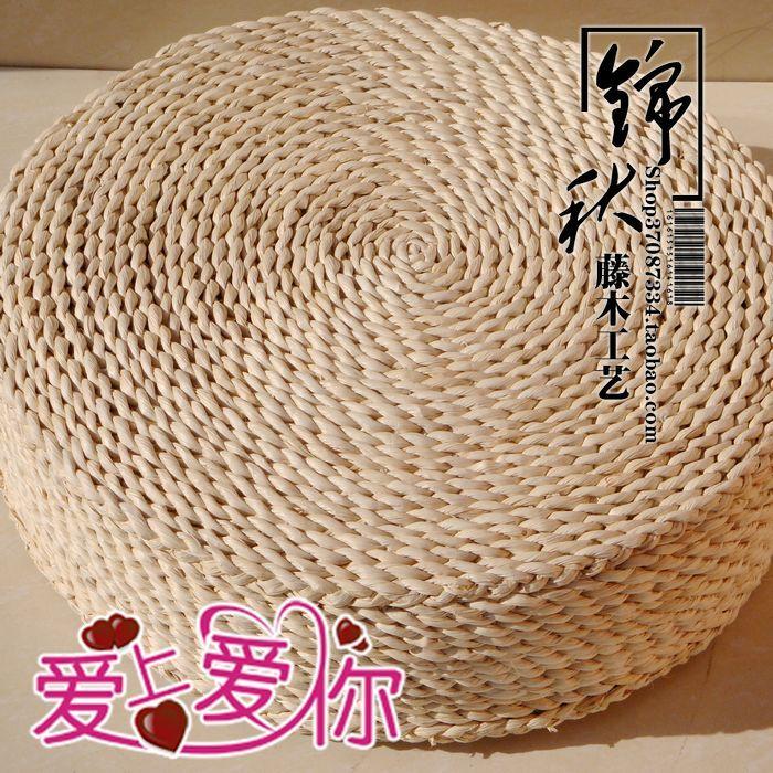 天然手工编织草编坐墩圆形 韩版时尚坐凳榻榻米坐垫加厚蒲团_不打折