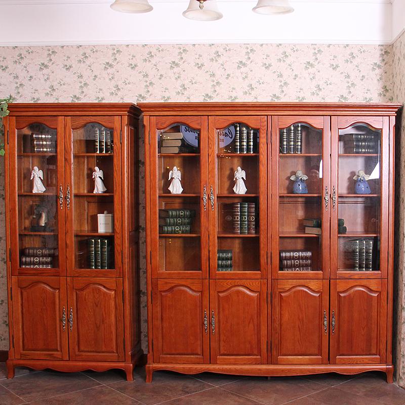 爱绿居欧式全实木二门书柜