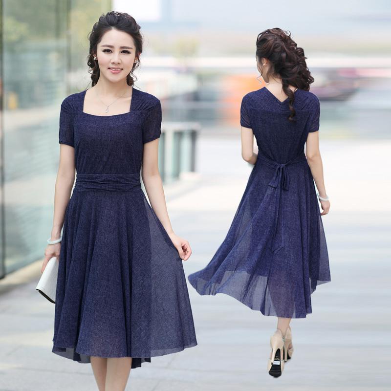 Модели летних платьев для женщин за 40  866
