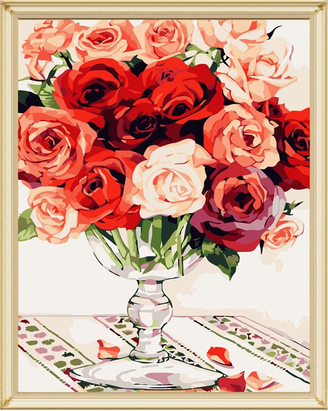 佳彩天颜玫瑰物语装饰油画