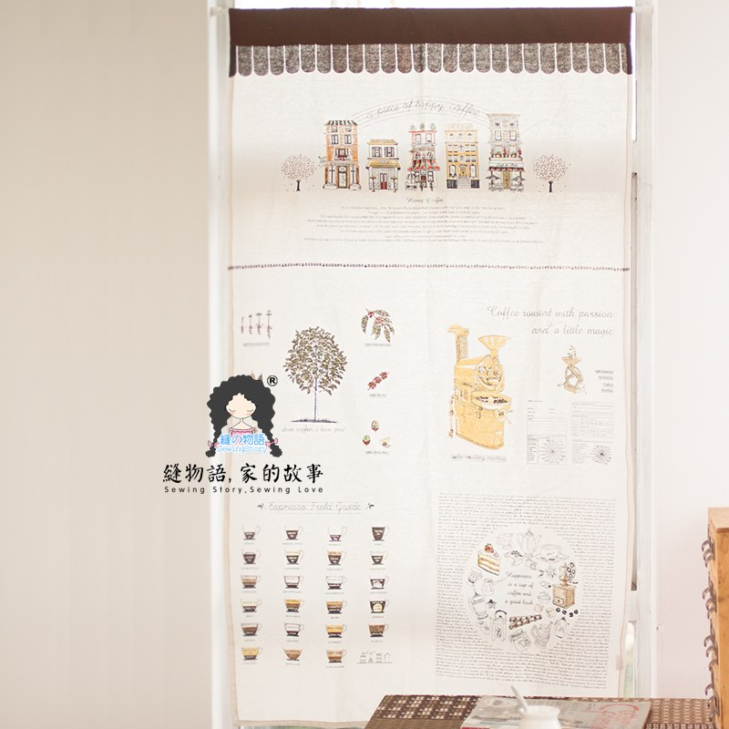 缝物语我的咖啡屋系列门帘A14CT006