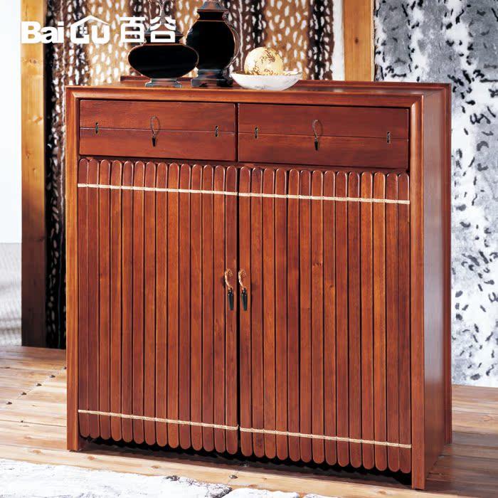 百谷实木品味全手工家具实木鞋柜d54