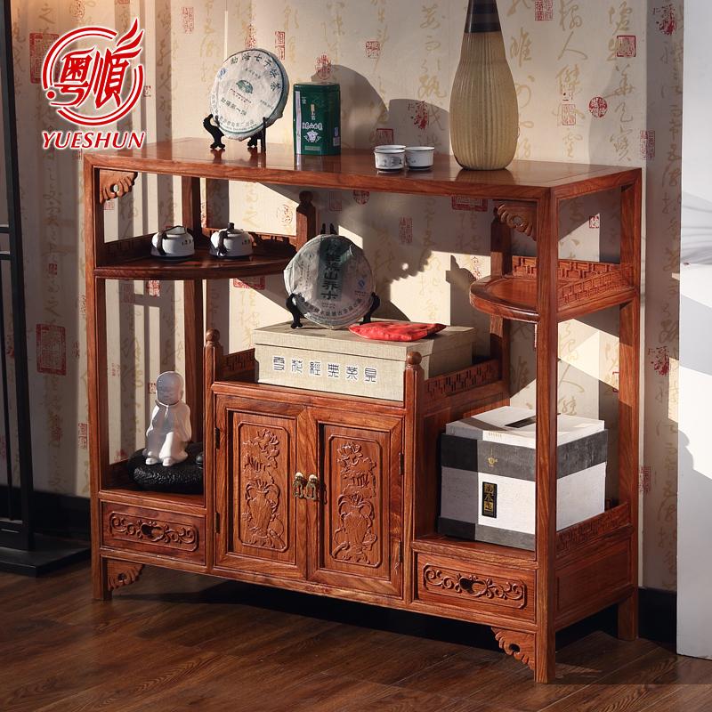 粤顺家具实木餐边柜红木茶水柜376