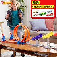 美泰风火轮极速极限跳跃赛道DJC05火辣小跑车合金车轨道模型