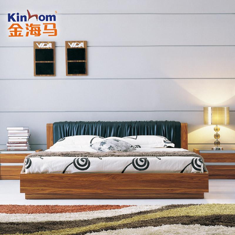 金海马现代简约板式床A1001