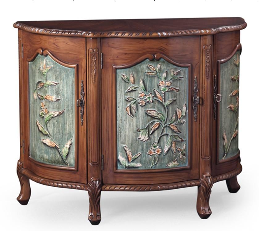 阿西娜地中海实木立体雕花柜HY-1187