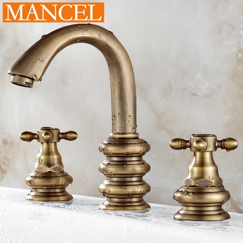 曼姿卫浴欧式全铜仿古水龙头MFL022