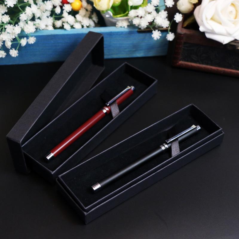 真彩中性笔黑0.5金属笔学生文具