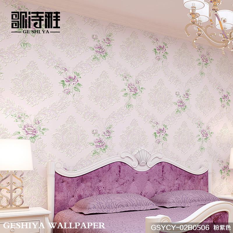 歌诗雅3d立体浮雕欧式田园壁纸GSYCY-02B050