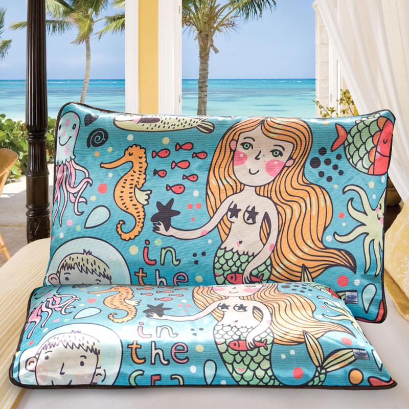 朗绮国际夏季美人鱼冰丝枕套ZT12