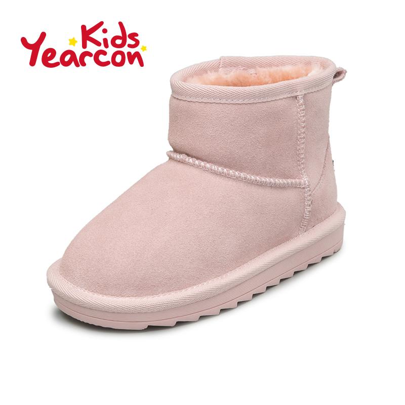 意尔康童鞋雪地靴2016秋冬季男童女童短靴加绒儿童鞋子保暖棉鞋产品展示图1