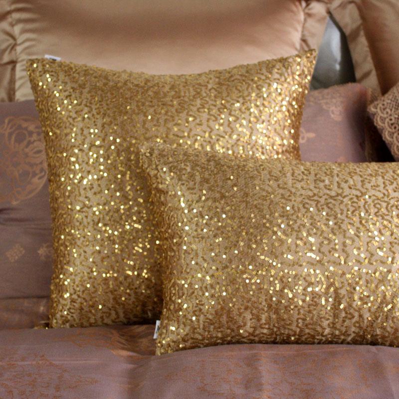 致尚堂满天星金色亮片靠枕套BZ-mtxj
