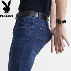Stretch Playboy Jeans Men's Straight Slim Men's Trousers Summer Thin Men's Men's Casual Pants
