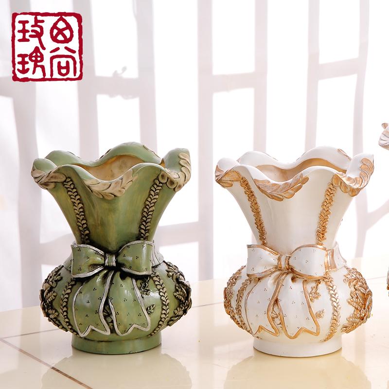 西尚玫瑰欧式复古花瓶摆件