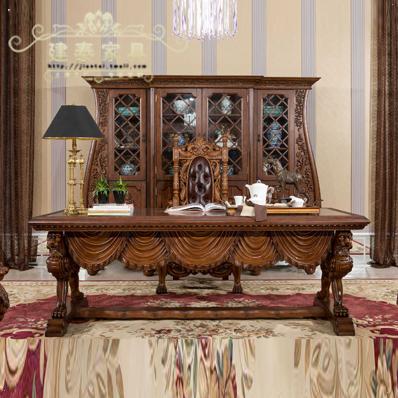 建泰欧式实木雕刻书桌pp091